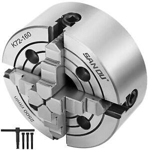 K72 160 Lathe Chuck 6 4 jaw Front Mounting Independent Reversible Jaw