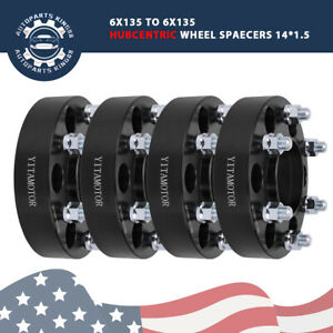 4 2 50mm Hub Centric 6x135to6x135 Wheel Spacers Adaptersfor 03 14 Ford F 150