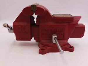 Columbia D4 Vise 3 1 2 Combination Anvil Swivel Base M5 3 5 3 1 2 Jaws Pipe