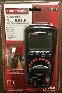 Craftsman Multimeter Ncv Tester Leads Probes 9v Battery Heavy Duty Measures new