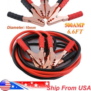 Jumper Booster Cables Heavy Duty 7ft 4 Gauge Car Truck Tractor Power Starter Us