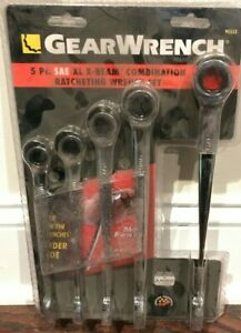 New Gearwrench 95553 5 Pc Sae Xl X Beam Combination Ratchet Wrench Set Free Ship