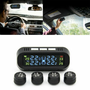 Tire Air Pressure Monitoring Detection System Car Auto Digital Alarm Solar Tpms