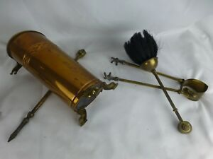 Great Antique Fireplace Tools Set