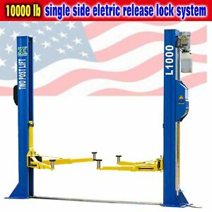 Qyse 10 000lb L1000 Two Post Lift Car Auto Truck Hoist Single Side Safety Unlock