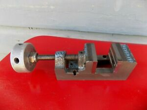 Palmgren Drill Press Vise 2 Jaw opens 2 3 8 Hardened Jaws v Grooved Jaw