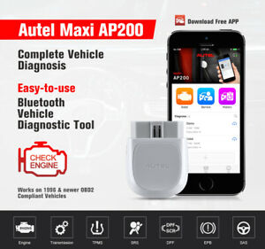 Autel Maxi Ap200 Bluetooth Obd2 Scanner Code Reader With Full Systems Diagnoses