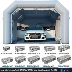 Inflatable Car Spray Paint Booth Portable Auto Paint Job Tent With Ul Blower