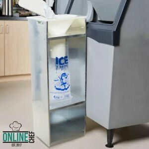 Commercial Ice Bagger 8 10 20 Lb Bag Stainless Steel Bin Bagging Machine Nsf