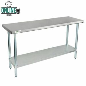 Stainless Steel Work Prep Shelf Table Commercial Restaurant 18 Gauge 18 X 60