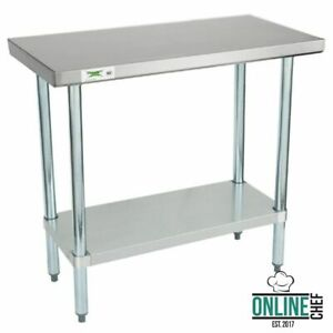 Stainless Steel Work Prep Shelf Table Commercial Restaurant 18 Gauge 18 X 36