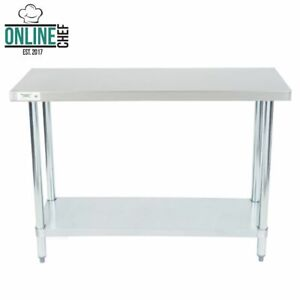 Stainless Steel Work Prep Shelf Table Commercial Restaurant 18 Gauge 18 X 48