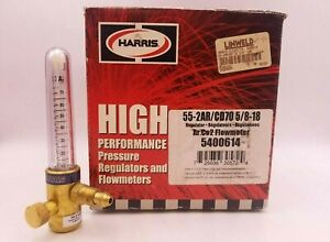 Harris 55 2ar cd70 5 8 18 Gas Regulator High Performance Flow Meter 5400614 Nos