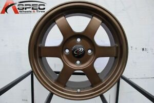 16x7 Rota Grid 4x100 40 Full Royal Sport Bronze Wheels set Of 4