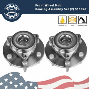 2x Front Wheel Hub Bearing Assembly For Silverado 1500 Sierra Suburban Abs 4wd