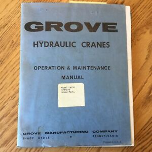 Grove Tm 150 155 180 250 550 Truck Crane Operation Maintenance Manual Hydraulic
