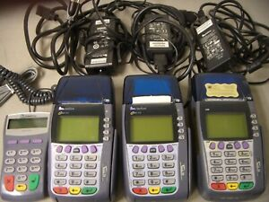 Verifone Omni 3750 Card Reader Terminal Lot Of 3