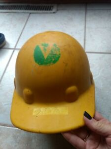 Vintage Fibre metal Hard Hat Superlectric E 1 Hat e 2 Cap Usa Union Made Yellow