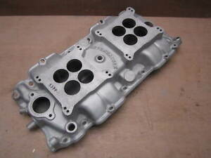 Offenhauser Dual Quad 2 4 Intake Manifold Big Block Chevy Rectangle Square Offy