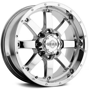 4 new 18 Inch Gear Alloy 726c Big Block 18x9 8x180 18mm Chrome Wheels Rims