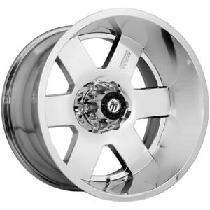4 new 18 Inch American Truxx At155 Armor 18x9 5x150 0mm Chrome Wheels Rims