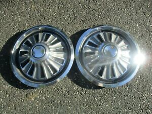 Lot Of 2 Factory 1967 Mercury Cougar 14 Inch Hubcaps Wheel Covers
