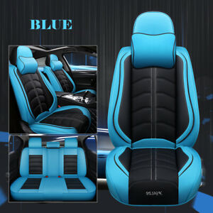 Universal 5 Seats Car Suv Pu Leather Cushions Front Rear Seat Covers Full Set