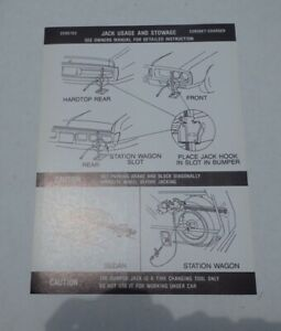 Mopar 72 Charger Coronet Jack Instructions Decal New 3595703 Dd0082
