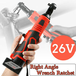 26v Rechargeable Cordless Electric Right Angle Ratchet Wrench 3 8 High Torque