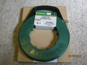 New Greenlee Steel Fish Tape 1 4 X 100 Ft 538 10 new in box bin 3