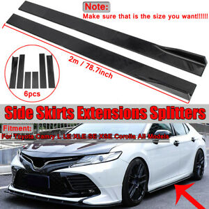 For Toyota Camry L Le Xle Se Corolla Side Skirts Extensions Lip Splitter 78 7