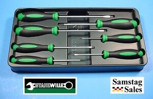 Stahlwille Germany 4691 Set Of 7 Screwdrivers With Tray