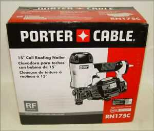 Brand New Porter Cable Rn175c 15 Degree Pneumatic Coil Roofing Nailer