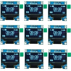 10pcs 0 96 Oled Ssd1306 Blue Lcd Display Module For Arduino I2c Iic Serial Lot