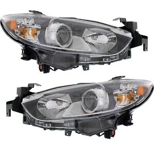 Headlight Set For 2014 2017 Mazda 6 Gt Sport Gs Touring Left And Right With Bulb
