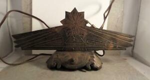 Art Nouveau Deco Lamp Base Cast Metal Markings 639 11 Long