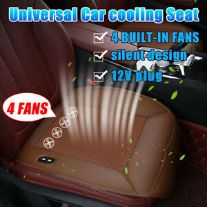 Cooling Car Seat Cushion Cover Air Ventilated Fan Conditioned Cooler Pad Leather