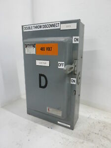 Westinghouse Xu362 60a 600v Double Throw Safety Switch Manual Transfer 60 Amp