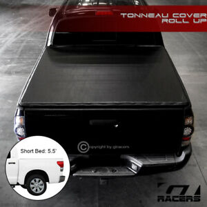 For 2014 2019 Toyota Tundra 5 5 Ft Bed Lock Roll Up Soft Vinyl Tonneau Cover
