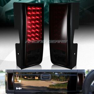 For Hummer H2 Red smoke Lens Led Rear Brake Stop Tail Lights Lamps Pairs Lh rh