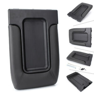 Center Console Lid Kit Arm Rest For Gmc Yukon Sierra 1500 1999 2007 Black