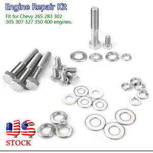 350 400 Engine Repair Tool Hex Bolt Kit For Chevy Engine 265 283 302 305 307 327