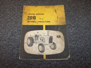 John Deere 2010 Wheel Tractor Original Factory Parts Catalog Manual Plt16742t