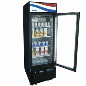 Single 1 Glass Door Commercial Refrigerator Cooler Merchandiser Nsf etl Cert