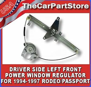 Power Window Lift Regulator Driver Side Left Front For 1994 1997 Passport Rodeo