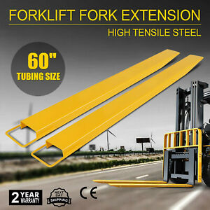 60 X 6 Forklift Pallet Fork Extensions Pair Retaining Fit 6 Width Lifting
