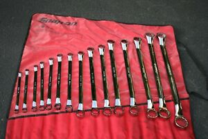 Snap On Tools 12 P Sae Flank Drive Standard 10 Offset Large Box Wrench Set Usa