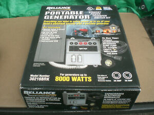 Reliance 30216brk Generator Power Transfer Switch Kit 6 circuit New