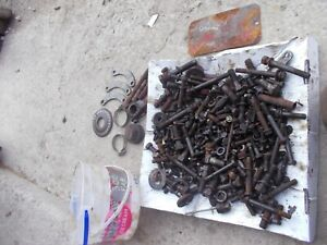 Farmall 300 Rc Ihc Tractor Ih Box Misc Bolts Nuts Parts Pieces Springs Dip Stick