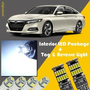16x White Led Interior Reverse Light Package For Honda Accord 2013 2020 Tool